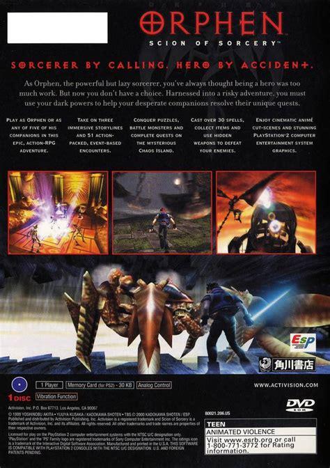 orphen scion of sorcery orphen scion of sorcery box for playstation 2 gamefaqs