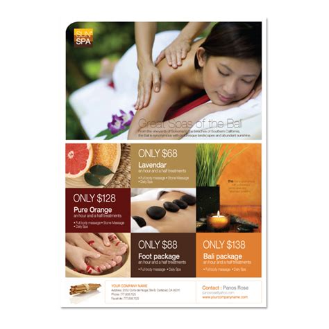 beauty spa flyer template spa ideas pinterest flyer