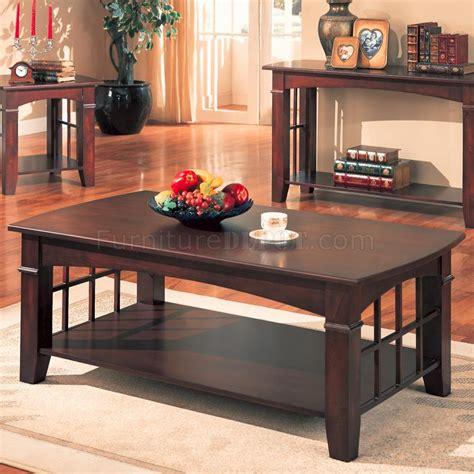 cherry finish modern coffee table w options