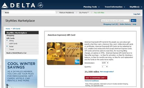 Use Skymiles For Gift Cards - be happy you are not a medallion or have a delta amex card ren 233 s pointsren 233 s points
