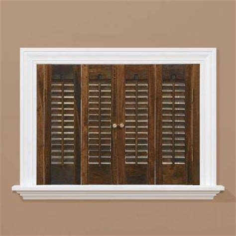 Wooden Window Shutters Interior Wood Shutters Plantation Shutters The Home Depot