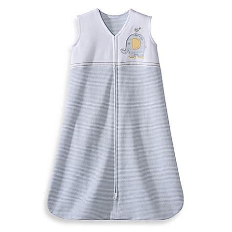 Baby Sleeping Bag Blanket Beyond Elephant halo 174 sleepsack 174 cotton wearable blanket in grey elephant stripe bed bath beyond