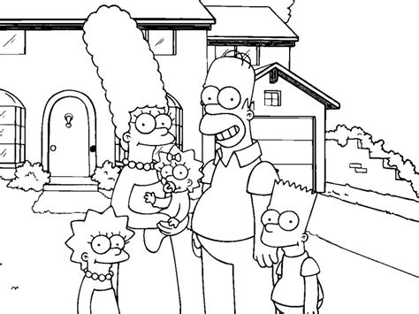 simpsons house coloring page the simpsons