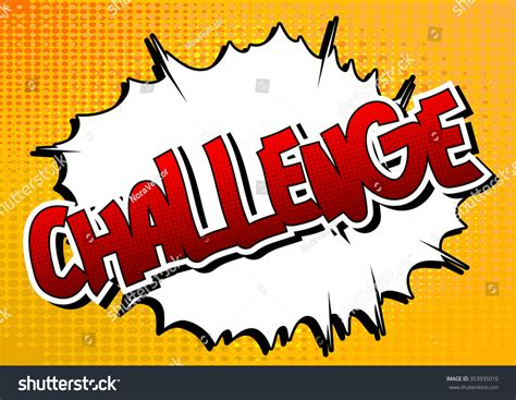 word challenge challenge comic book style word on comic book abstract