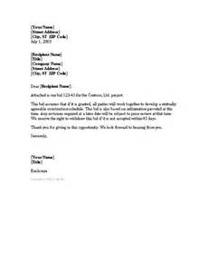 cover letter for project bid cover letters templates