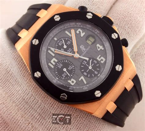Audemars Piguet Roo Rosegold Rubber Automatic audemars piguet royal oak offshore gold rubber clad for 30 000 for sale from a trusted