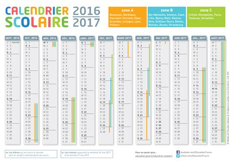 Dates Vacances Scolaires 2016 Vacances Scolaires 2016 2017 Toutes Les Dates Zone Par Zone