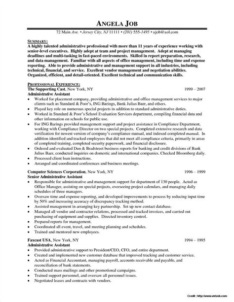 Executive Assistant Resume Templates by Senior Executive Assistant Resume Template Resume