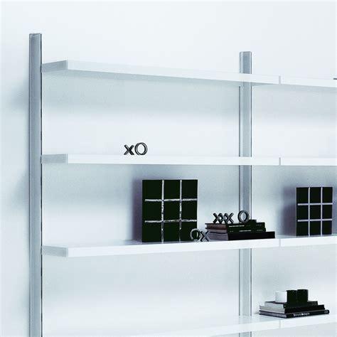 scaffali a muro scaffalatura libreria big 7 a muro in acciaio bianco x