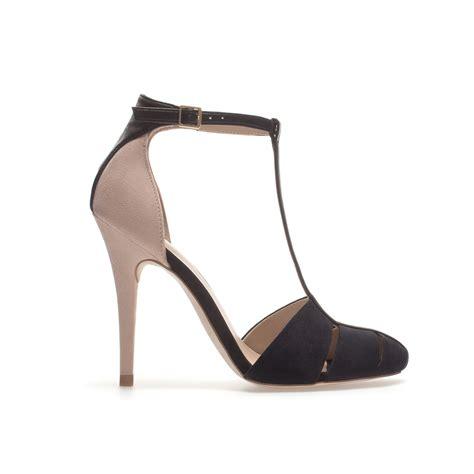 zara high heels sandals zara high heel sandal in pink black lyst