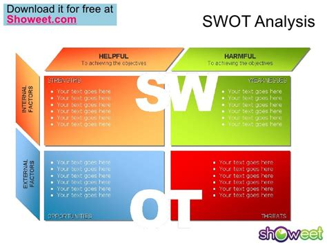 Swot Analysis Free Powerpoint Charts Swot Analysis Powerpoint Template Free