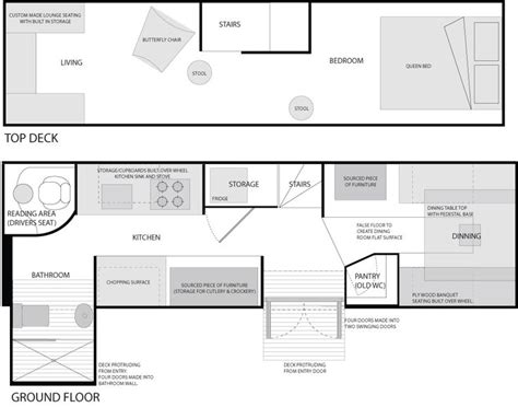 decker floor plan decker conversion floor plans mobile living buses decker and