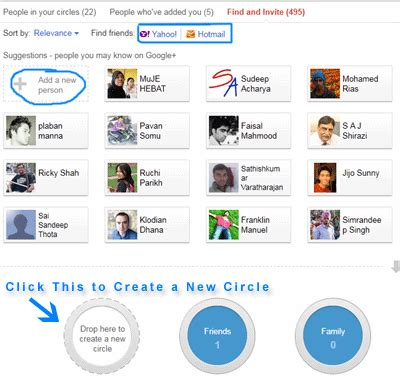 Search Email Id By Name In Gmail How To Invite Friends In Plus Create Circles