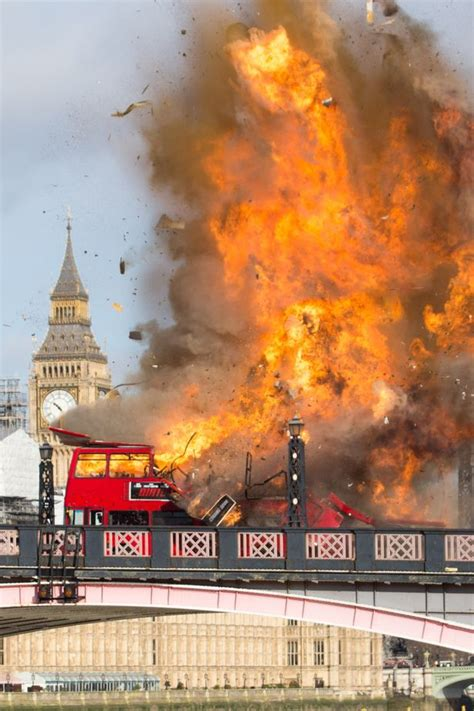 to skynews when buses exploded in they explodes on bridge terrifying who weren