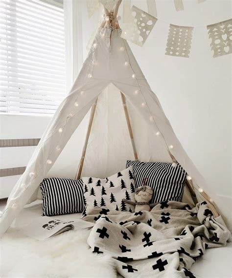 quot black and white tipi corner room quot interior for baby kid tipi rooms