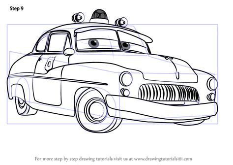 Cars 3 Sketches by Learn How To Draw Sheriff From Cars 3 Cars 3 Step By