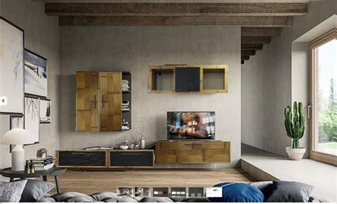 mobili soggiorno legno mobile soggiorno in legno e crash bambu bortoli offerta