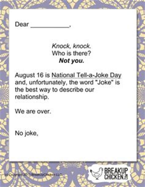 up letter joke 1000 images about breakup letters on up