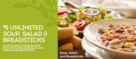 Olive Garden Birthday Coupon by Olive Garden Coupon For 5 Unlimited Soup Salad And