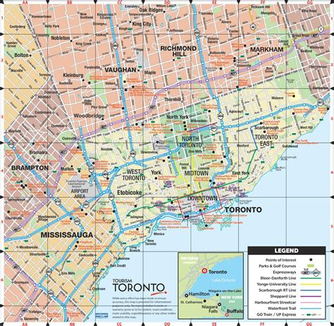 printable maps toronto toronto road map