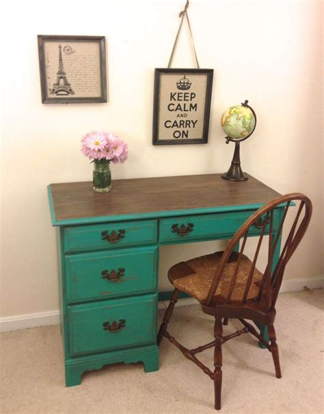 Desk Paint Ideas by On Hold Reserved Rustic Turquoise Desk And Chair Set