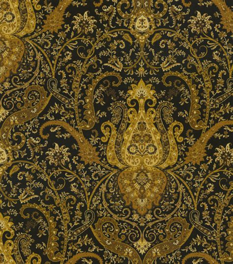 home decor print fabric waverly byzance onyx jo