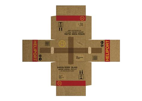 Papercraft Boxes - heliport cardboard box from metal gear solid by moloch15
