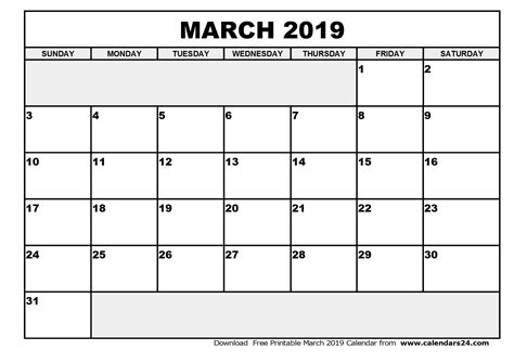 Calendar 2019 July March 2019 Calendar April 2019 Calendar