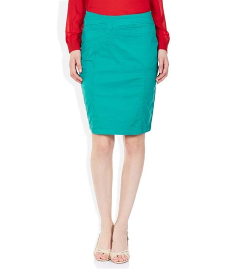 buy park avenue turquoise green pencil skirt