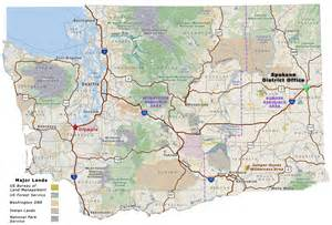 spokane map welcome to spokane oregon washington blm