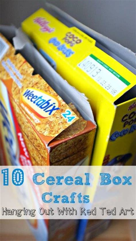 cereal box crafts for 10 cereal box crafts ted s