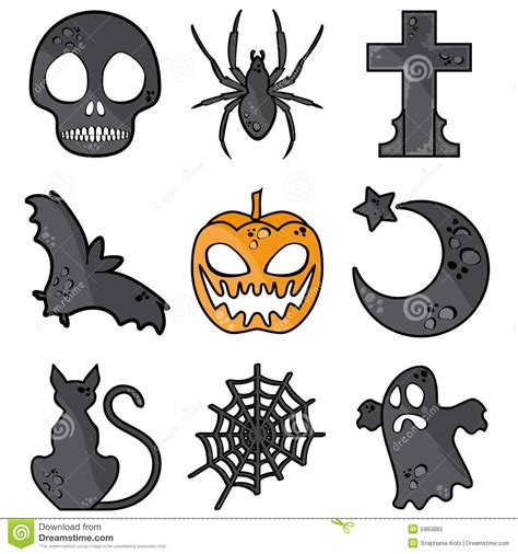 simbolos o imagenes de halloween halloween symbols stock vector illustration of cross