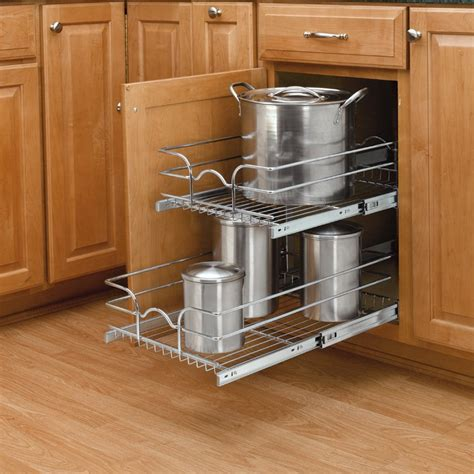 Shelf Pull Out Organizers by Rev A Shelf 12 Quot Pull Out Basket Chrome 5wb2 1218 Cr