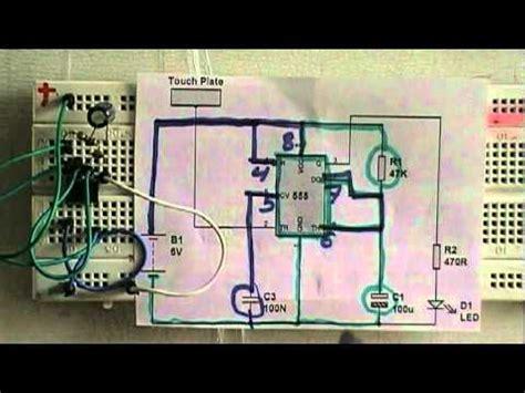 breadboard circuit taser led blinker ne555 doovi