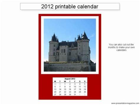 Free 2012 Printable Calendar Template Presentationmagazine Free Powerpoint