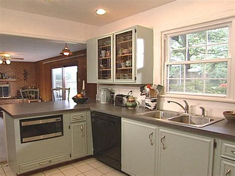 Painting Old Kitchen Cabinets Before and After   Decor