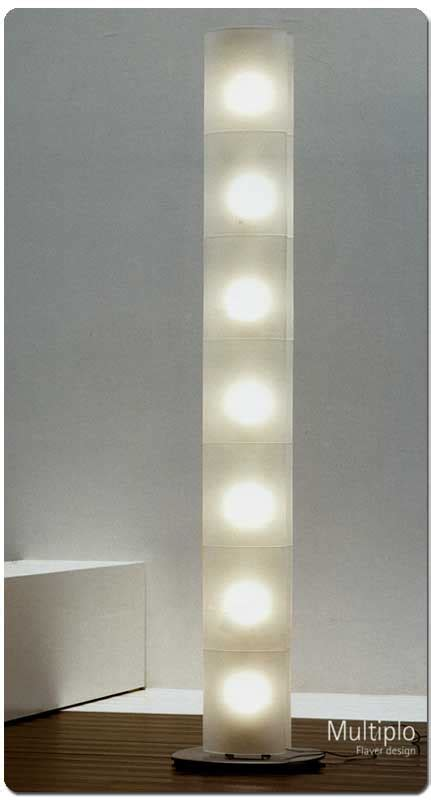 flaver illuminazione lultiplo di flaver lada da terra base inox satinato