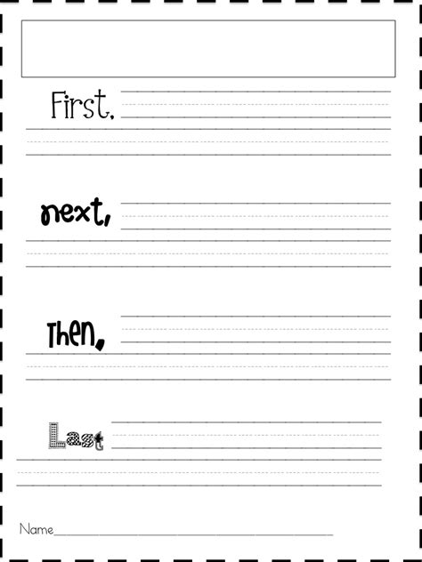 printable narrative writing paper 16 best images of sequence writing graphic organizer