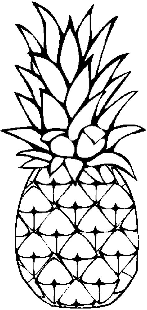Free Coloring Pages Pineapple Coloring Page