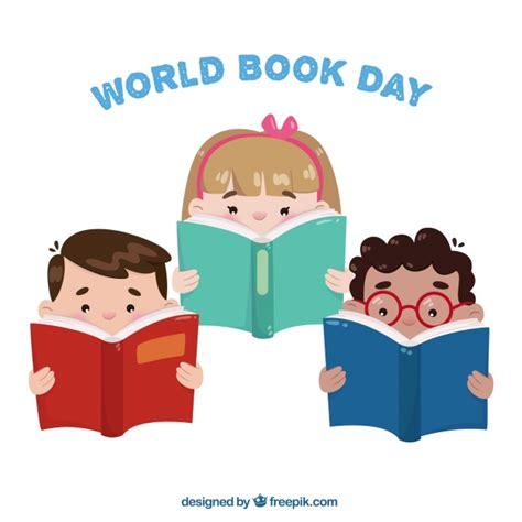 imagenes infantiles niños leyendo set de tres ni 241 os leyendo libros descargar vectores gratis