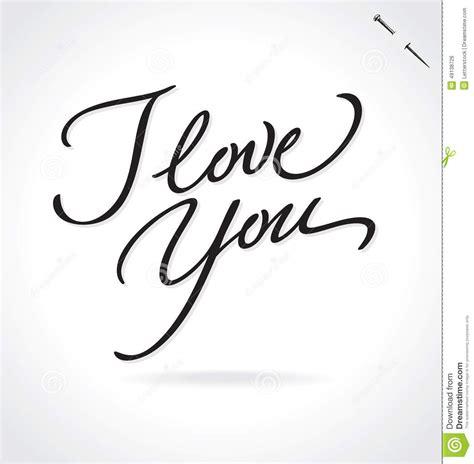 imagenes de i love you en cursiva je t aime lettrage de main illustration de vecteur