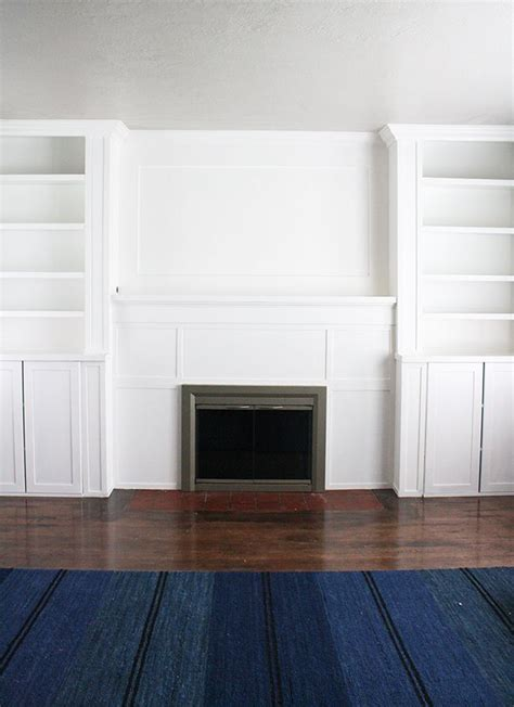 diy built in bookcases around fireplace ikea hack built ins use inexspensive ikea cabinet and