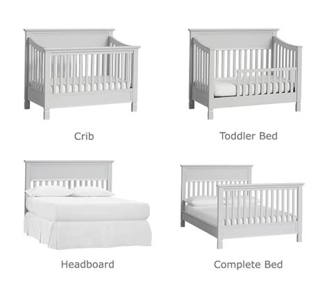 convertible 4 in 1 cribs larkin 4 in 1 convertible crib pottery barn