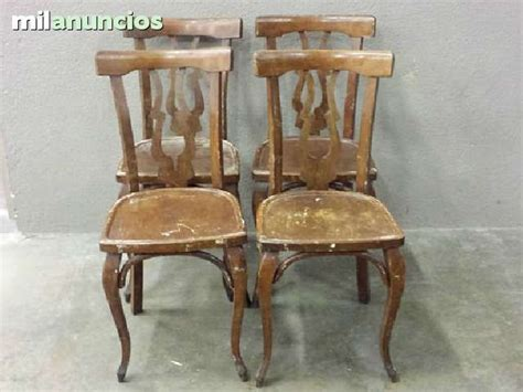 antiguas  sillas de madera  restaurar buen estado se