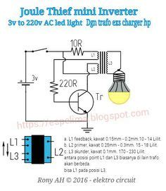 Trafo Inverter 1 5v 3v To 315v For Human Shock Circuits joule thief inverter 1 5v to 220v ac light skema circuit jt joule thief