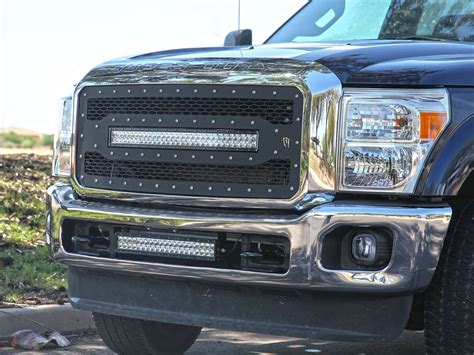 F250 Light Bar by Rigid Ford F 250 11 16 Grille With 30 Rds Series Led