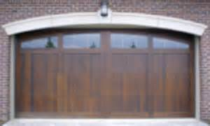 carriage style garage doors and wood