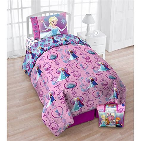 frozen bed in a bag frozen nordic florals 4 piece bed in a bag with sheet set