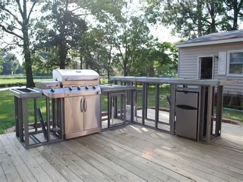outdoor kitchen plans diy backyard wood