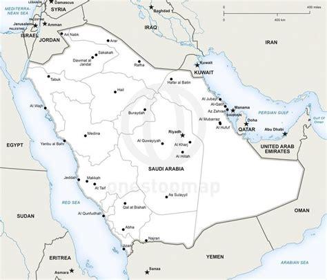 printable area c vector map of saudi arabia political saudi arabia